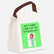Nurse funny Canvas Lunch Bag
