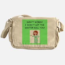 Cute Nurse funny Messenger Bag