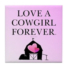 Cowgirl Love Tile Coaster