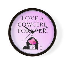 Cowgirl Love Wall Clock