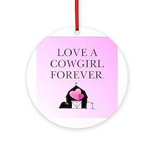 Cowgirl Love Ornament (Round)