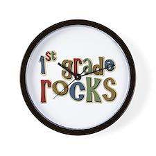 1st Grade Rocks First School Wall Clock