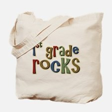 1st Grade Rocks First School Tote Bag