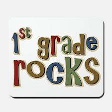 1st Grade Rocks First School Mousepad