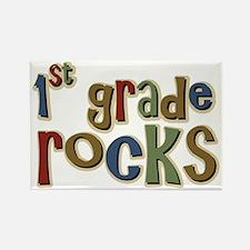 1st Grade Rocks First School Rectangle Magnet