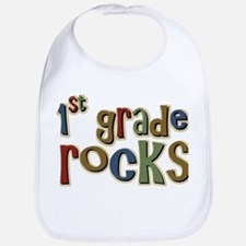 1st Grade Rocks First School Bib