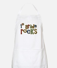 1st Grade Rocks First School BBQ Apron