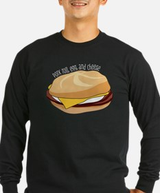 Pork Roll, Egg, and Cheese Long Sleeve T-Shirt