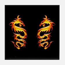 Twin Dragons Tile Coaster