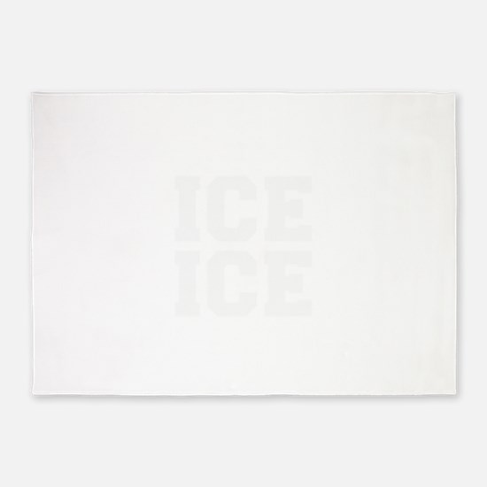 ice ice baby-Fre white 5'x7'Area Rug