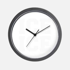 ice ice baby-Fre white Wall Clock