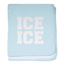 ice ice baby-Fre white baby blanket
