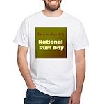 White T-shirt: Rum Day