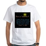 White T-shirt: Thomas Edison powered the first ele