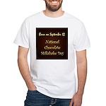 White T-shirt: Chocolate Milkshake Day
