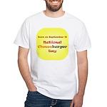 White T-shirt: Cheeseburger Day