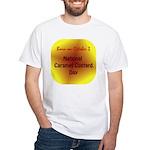 White T-shirt: Caramel Custard Day