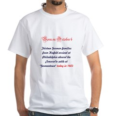 White T-shirt: Thirteen German families from Krefe