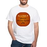 White T-shirt: Chocolate Cupcake Day