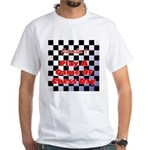 White T-shirt: Play A Game Of Chess Day