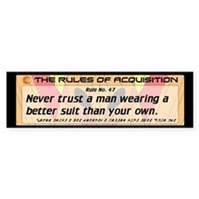 FERENGI RULES 47 Bumper Bumper Sticker
