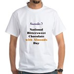White T-shirt: Bittersweet Chocolate with Almonds