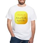 White T-shirt: Vanilla Cupcake Day