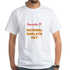 White T-shirt: Baklava Day
