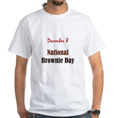 White T-shirt: Brownie Day