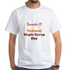 White T-shirt: Maple Syrup Day