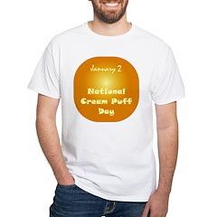 White T-shirt: Cream Puff Day