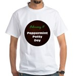 White T-shirt: Peppermint Patty Day