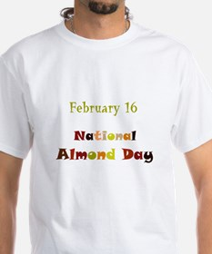 White T-shirt: Almond Day