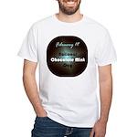 White T-shirt: Chocolate Mint Day