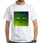 White T-shirt: International Mother Language Day