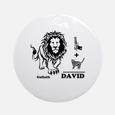 DAVE -n- GOLY Round Ornament