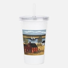 Red Farmhouse with Sai Acrylic Double-wall Tumbler