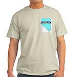 True Blue Nevada LIBERAL Ash Grey T-Shirt