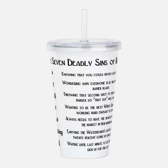 7sins.png Acrylic Double-wall Tumbler