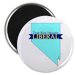 True Blue Nevada LIBERAL Magnet