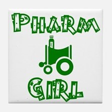 pharm girl trans.png Tile Coaster