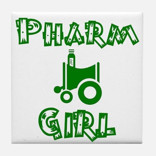 pharm girl trans.png Tile Coaster