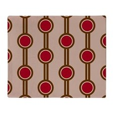 Retro Circle Pattern Throw Blanket