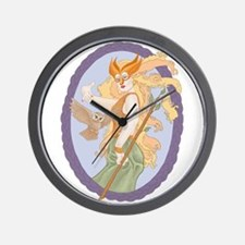 Grey Eyed Athena Wall Clock