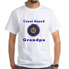 coast guard grandpa White T-shirt