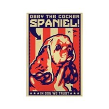 Obey the Cocker Spaniel! USA Magnet