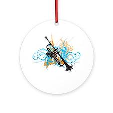Urban Trumpet Ornament (Round)