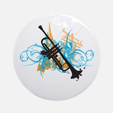 Urban Trumpet Ornament (Round)