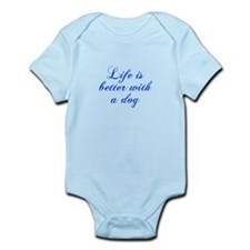 Life is better with a dog-Cho blue Body Suit