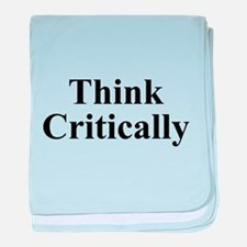 Think Critically baby blanket